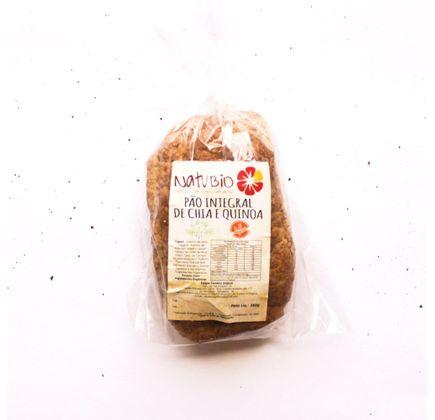 Pão Integral de Chia e Quinoa sem Glúten, Vegano e Orgânico 400g - Natubio