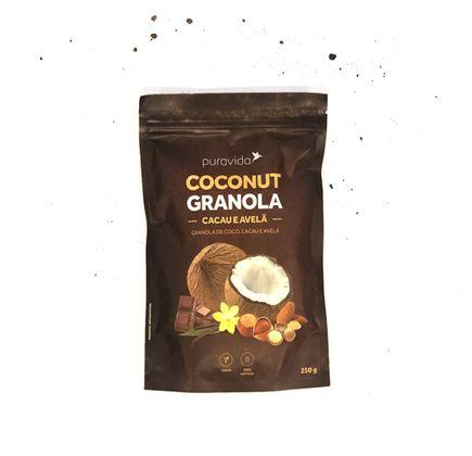 Granola de Coco, Cacau e Avelã 250g - Puravida
