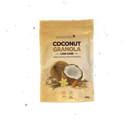 Granola de Coco, Castanhas e Sementes Low Carb 250g - Puravida