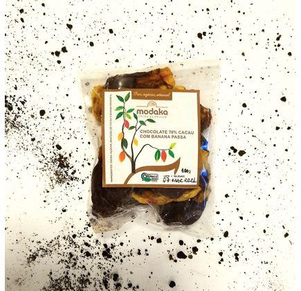 Chocolate Orgânico 70% Cacau com Banana Desidratada - Modaka
